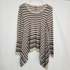 Poof Striped Asymmetrical Sweater M